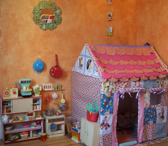 Детский домик своими руками фото в квартире