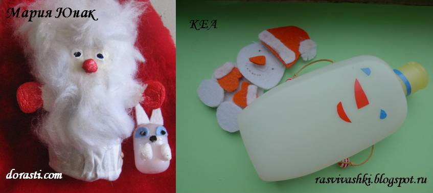 Дед мороз и снеговик своими руками