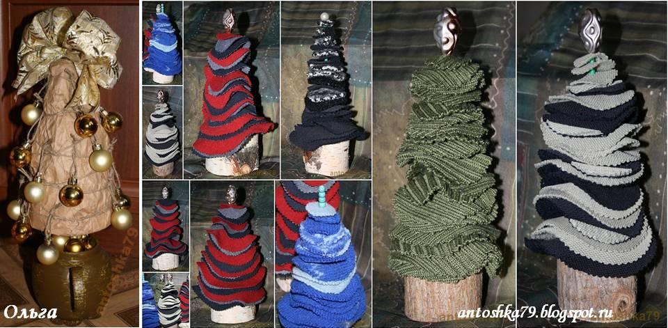 елки своими руками из старой одежды