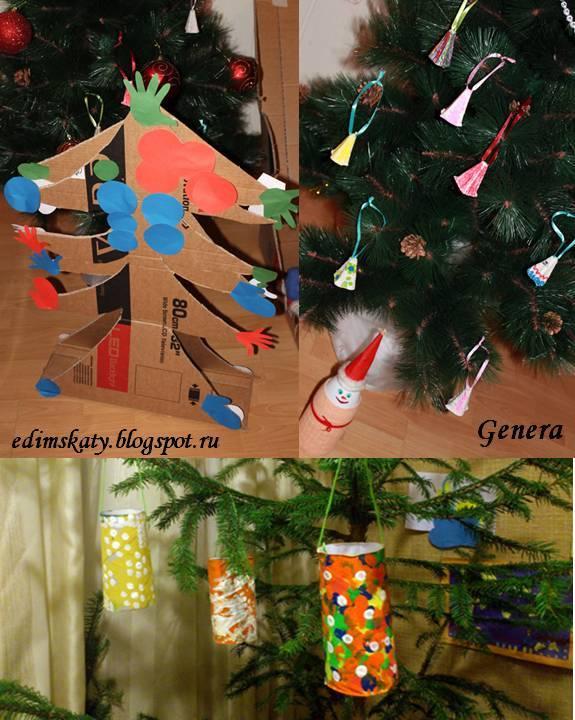 Новогодняя елка и игрушки своими руками