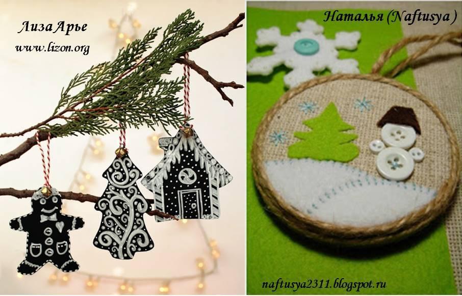 Креативные идеи новогодних украшений