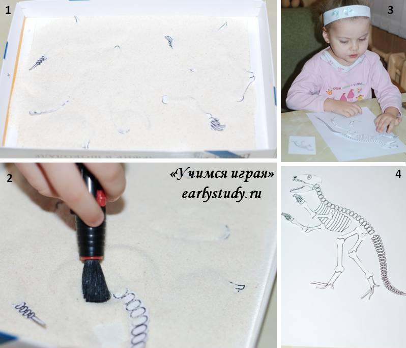 собираем скелет тиранозавра