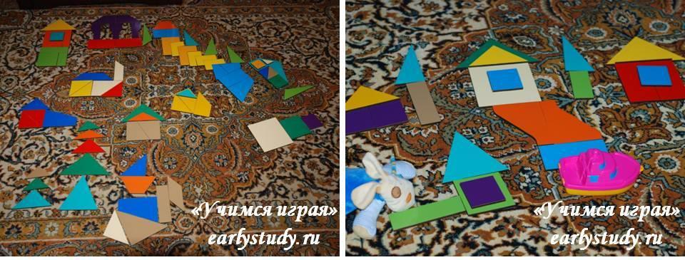 декорации из квадратов Никитина
