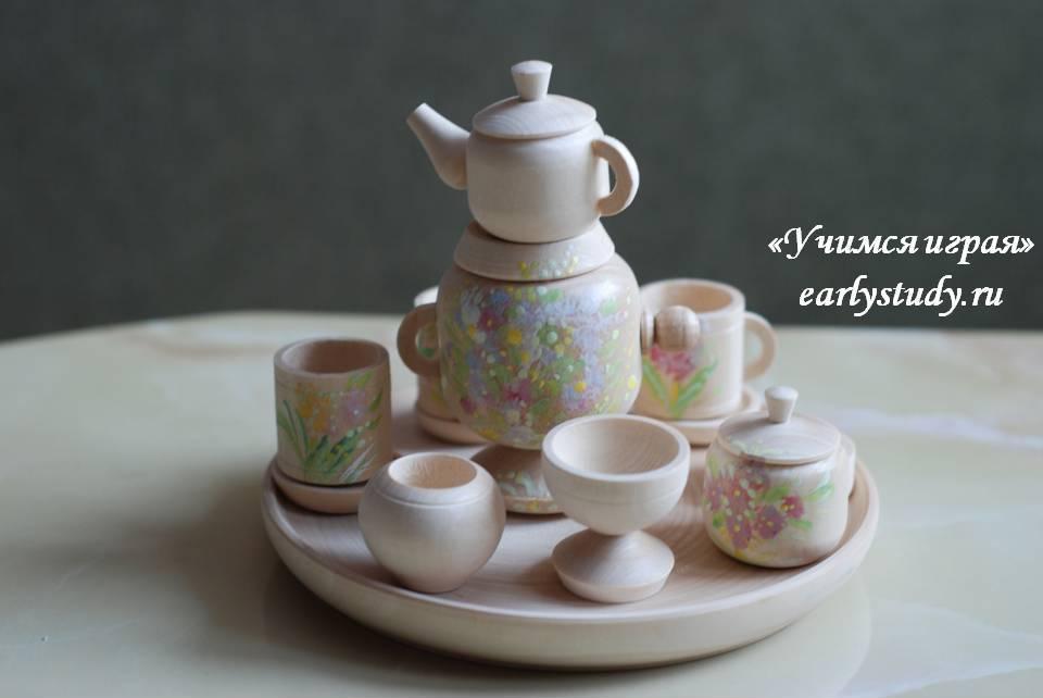 миниатюрная деревянная посуда