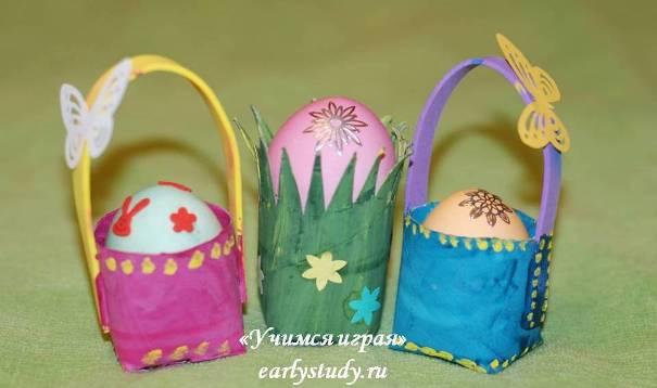 подставки для яичек с детьми