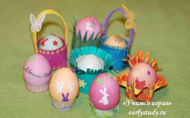 подставки для яиц своими руками
