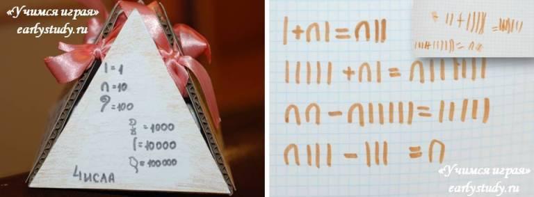 пишем цифры как древние египтяне