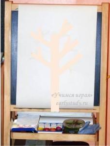 осеннее дерево - творчество с детьми