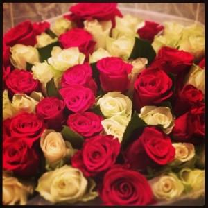 Цветы от любимого мужа в день рождения