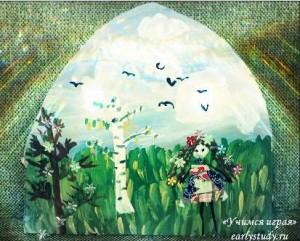 Весна в детских рисунках