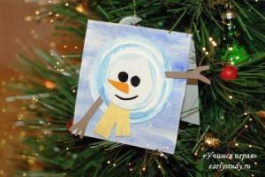 Новогодние открытки со снеговиками