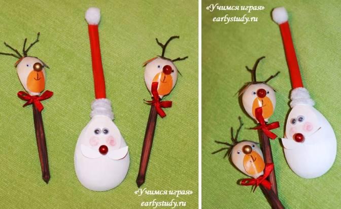 Санта-Клаус и его олени своими руками