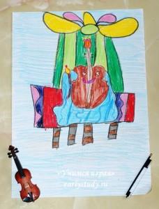 Тематическое занятие «Волчонок»  и скрипка